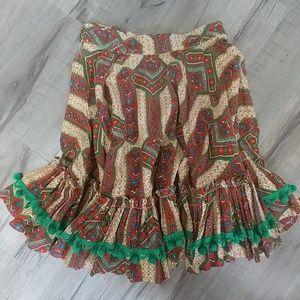 Vintage full circle Rockabilly skirt global print